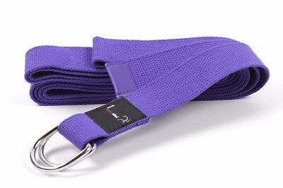 Yoga Studio Belt Stretching Fitness Exercise Strap Clinch DRing Buckle Cotton 3m