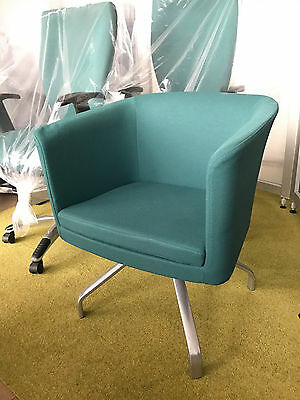 Herman Miller Bozo [RX659] Rotating Tub Chair - Retro Spyder Base in Green