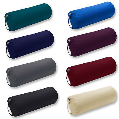 Yoga Studio Organic Buckwheat Bolster New Fitness Exercise Hand Made in Europe