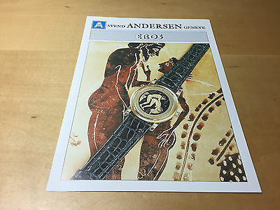 Press Release SVEND ANDERSEN - EROS - Greek Mythology - Watch NOT Included