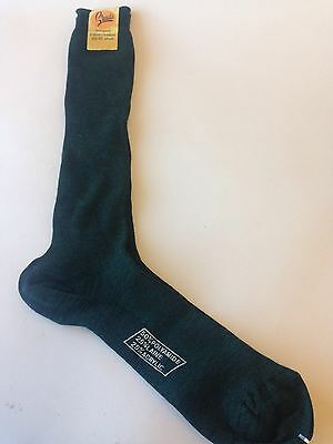 Men's Vintage Long Green Socks  Size 43-45 Unworn Dead stock
