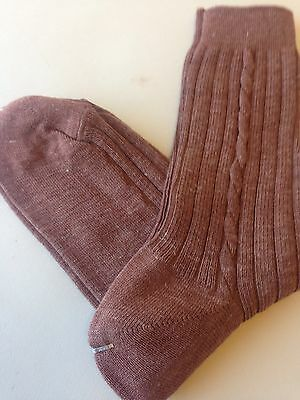 Men's Vintage Brown  Socks  Size 43-45 Unworn Dead stock
