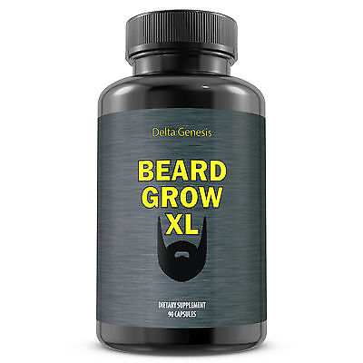 Beard Grow XL | Facial Hair Supplement | #1 Mens Face Hair Growth Vitamins