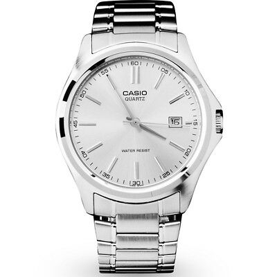 Casio Men's Analog Quartz Date Silver Tone Stainless Steel Watch MTP1183A-7A