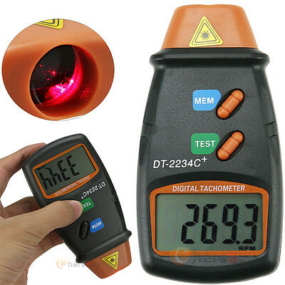 Handheld Non Contact Digital Photo Laser Tachometer Tach Tool RPM Tester Equip