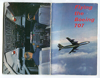Flying The Boeing 707 Book Boac B.o.a.c. Flight Deck & Cabin Pictures