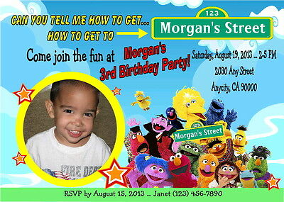 Dallas Cowboys NFL Printable Personalized Birthday Party – Sesame Street Party Invitations Personalized