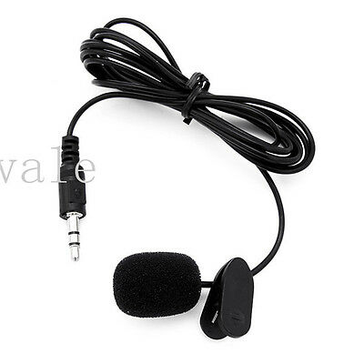 3.5mm Sound Active Cam Tie Clip On External Mic Microphone for GoPro 3 4 Sj4000