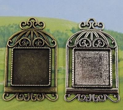 wholesale 5//10pcs 65x38mm-40x30mm Retro Style Cameo Cabochon Base Setting Charms