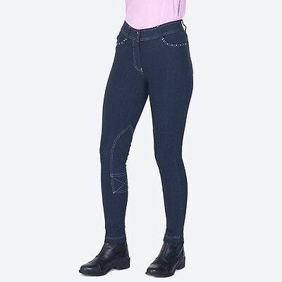 Mizz Elite Jodhpurs Navy Denim Childrens Jean Style Jodhpur