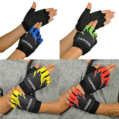 Gel Sport Vélo Motocycle Mitaines Sans Doigts Antidérapage Gants