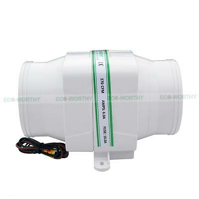 "DC12V 130CFM or 270CFM Inline Bilge Air Blower Ventilation Sea 4"" / 3"" Hose vv"