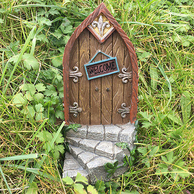 Large Fairy Elf Door Garden Decoration Outdoor Magical Pixie Vintage 39158