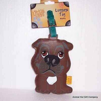 LITTLE PAWS Luggage Tag - Staffordshire Bull Terrier