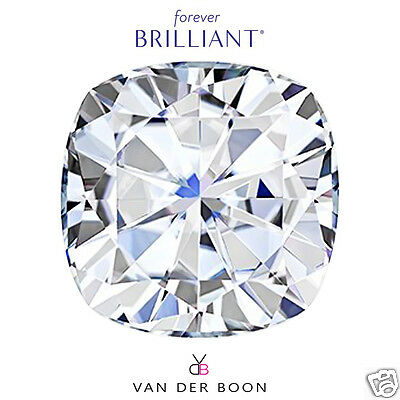 Cushion Cut Forever Brilliant® Moissanite Loose Stone, Charles & Colvard®