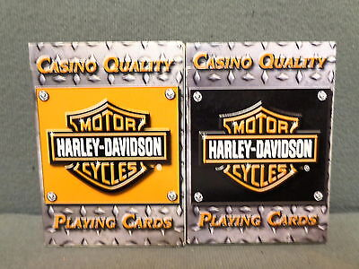 Harley Davidson Playing Cards 2 Decks With Contrasting Colors