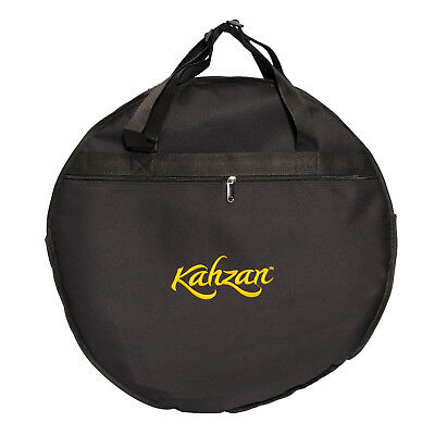 """New Kahzan 20"""" Black Padded Cymbal Carry Bag Case for Drum Kit"""
