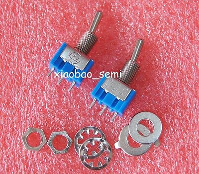 10pcs New MTS-103 Mini 3-Pin SPDT ON-OFF-ON 6A 125VAC Toggle Switches