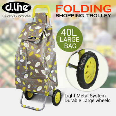 D.LINE Shopping Trolley - Spring Leaf Rolling Wheel Collapsible Cart Bag