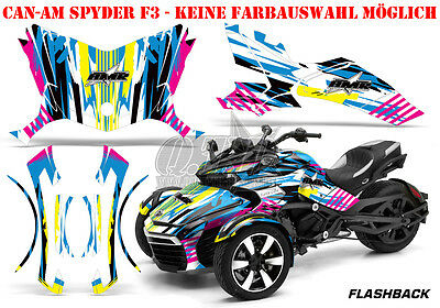 Amr Racing Dekor Graphic Kit Atv Can-Am Spyder Rs, Rss, Rt,rt-S, F3  Flashback B