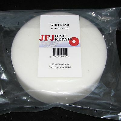 2 JFJ WHITE BUFFING PADS for SINGLE / DOUBLE ARM ARMLESS MACHINE