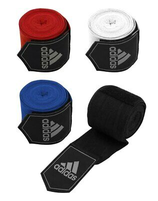 Adidas Boxing Hand Wraps 255cm Muay Thai Bandages Black Red Blue White AIBA 2.5m