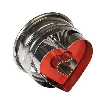 dotcomgiftshop LOVE HEART BISCUIT CUTTER WITH EJECTOR