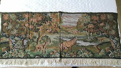 Wall Hanging Tapestry Embroidery Velve Hunt Hut  Wall Hanging