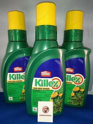 3  Bottles - Killex Weed Control - Herbicide - Concentrate - 1 Litre