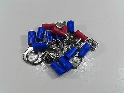 Insulated Crimp Terminals Wire Connectors Male Female Spade Ring Auto Electrical