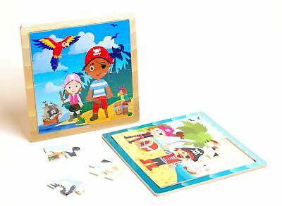 Pirate Themed Wooden Jigsaw Puzzle Children Kids Toy Age 2+