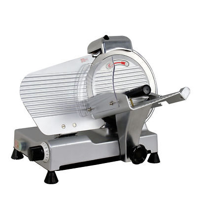 "Electric Commercial Butcher Deli Meat Cheese Bread Slicer 10"" Blade Saw Machine"