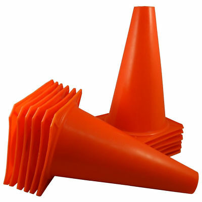 "7"" Orange Training Cones Soccer Coach Sports Field marker Traffic Safety - LOT"