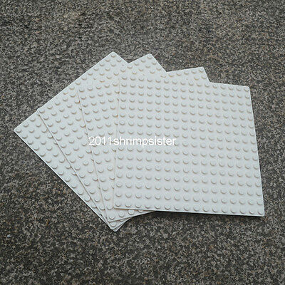 4pcs Base Plate Compatible for Lego figures display Brick 16x16 Dots WHITE