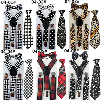 3PCS Suspender Bowties Bow Ties Matching Colors Boys Child Children YHHtr0004