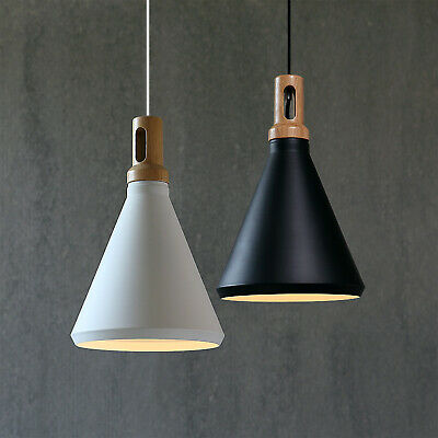 Contemporary Pendant Light Funnel Wooden Ceiling lighting Onion Timber Lamp