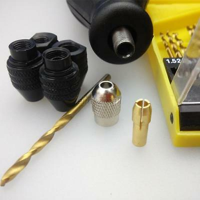 For Dremel Rotary Tools Lots Size Keyless Drill Bit Chuck Adapter 0.3-3.2MM Hot