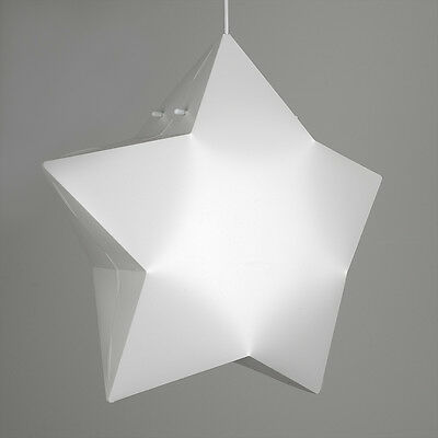 Modern Matt White 3D Star Ceiling Pendant Light Shade Bedroom Lights Lampshade