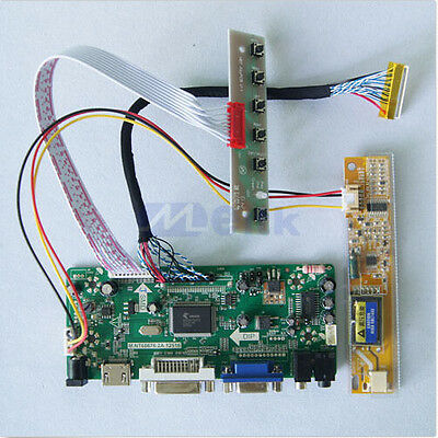 "HDMI VGA DVI Audio LCD Driver board for 17.3"" inch B173RW01 1600x900 lcd panel"