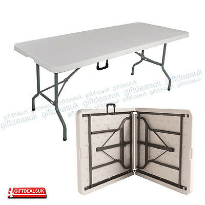 New 1.8M 6Ft Heavy Duty Folding Catering Camping Table Trestle Picnic Bbq Party