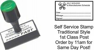 Garage Mechanics Rubber Stamp Manual Not Self Inking Excellent Service & History