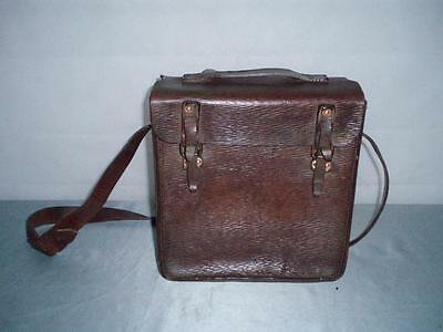 WW1 Military Bag Hide Leather Traveling Box Case.1943