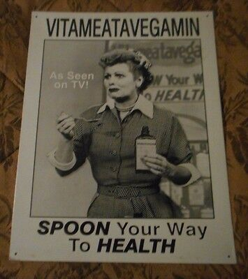 Vitameatavegamin I Love Lucy Metal Poster 12.5 X 16 Inches