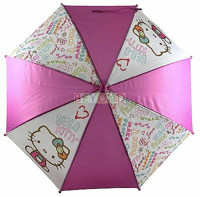 Brand New Licensed Hello Kitty Sanrio Molded Handle Umbrella for Kids