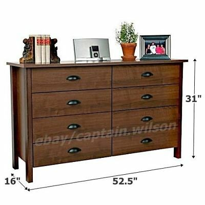 bedroom furniture natural stain solid wood four drawer storage chest