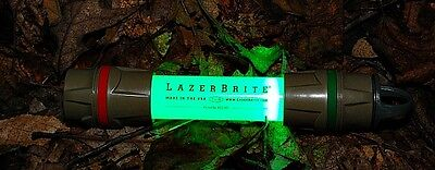 Lazerbrite Tactical LED Flashlight Pouch Kit Military Coyote Red Green