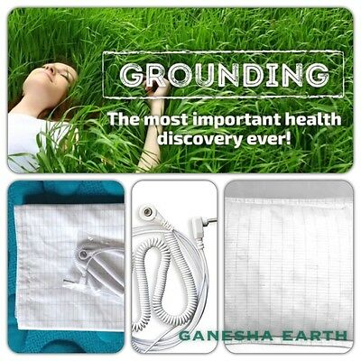 "New! Earthing / Grounding Sheet Pillow Case 30"" x 20""  SHIELD EMF RADIATION"