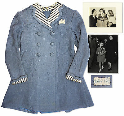 Shirley Temple Worn Coat From Just Around the Corner