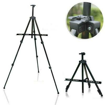 Iron Easel Alloy Folding Painting Easel Adjustable Tripod Display With Carry Bag
