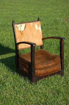 Delightful Vintage Antique Low Petite Oak Framed Armchair - Upholstery Project